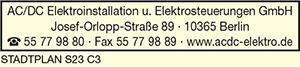 AC/DC Elektroinstallation u. Elektrosteuerungen GmbH