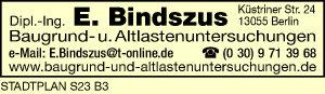 Bindszus, E. Baugrund- u. Altlastenuntersuchungen