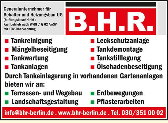 B.H.R. Generalunternehmer Behälter und Heizungsbau UG (haftungsbeschränkt)
