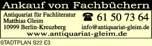 Antiquariat für Fachliteratur Matthias Gleim
