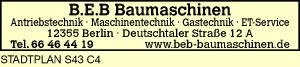 Logo von B.E.B. Baumaschinen