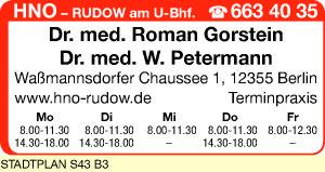 Gorstein, Roman, Dr. med. und<P>Dr. med. W. Petermann