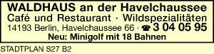 Waldhaus an der Havelchaussee