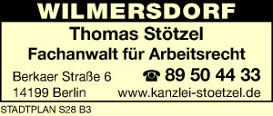 Stötzel Thomas 14199 Berlin Wilmersdorf Adresse Telefon Kontakt