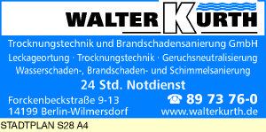 Logo von Kurth Trocknungstechnik und Brandschadensanierung GmbH Walter