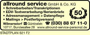 Logo von Allround Service GmbH & Co. KG