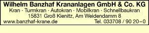 Logo von Banzhaf Krananlagen GmbH & Co. KG, Wilhelm