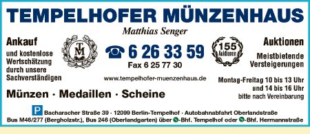 Meine Münze Bernhard Grohmann Und Robert Lucht Gbr In Berlin