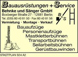 Bauausrüstungen + Service Behnke und Sänger GmbH