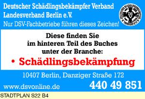 Deutscher Schädlingsbekämpfer Verband Landesverband Berlin e.V.