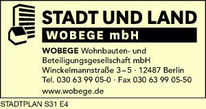 Logo von WoBeGe Wohnbauten- und Beteiligungsgesellschaft mbH