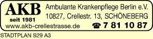 Logo von AKB Ambulante Krankenpflege Berlin e.V.
