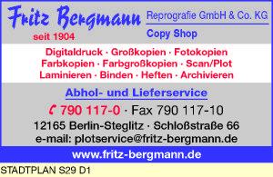 Logo von Bergmann Reprografie GmbH & Co. KG Fritz