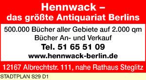 Logo von Hennwack Antiquariat