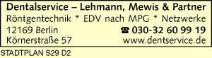 Logo von Dentalservice - Lehmann, Mewis & Partner