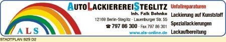 Logo von AutoLackierereiSteglitz, Inh. Falk Behnke
