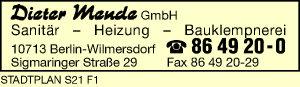 Logo von Mende GmbH, Dieter