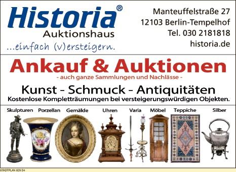 Logo von Auktionshaus Historia