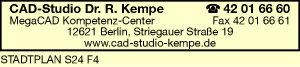 Logo von CAD-Studio Dr. R. Kempe