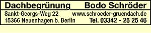 Logo von Dachbegrünung Bodo Schröder