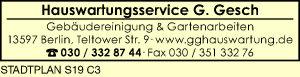 Logo von Hauswartungsservice G. Gesch