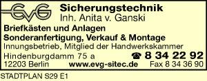 Logo von EVG Sicherheitstechnik
