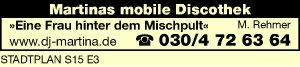 Logo von Martinas mobile Diskothek, M. Rehmer