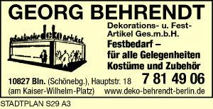 Logo von Behrendt, G., Dekorations- und Festartikel GmbH