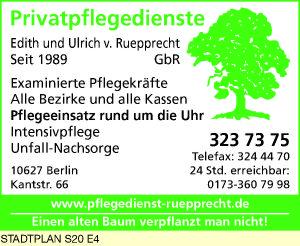 Logo von Privatpflegedienste Edith und Ulrich von Ruepprecht GbR
