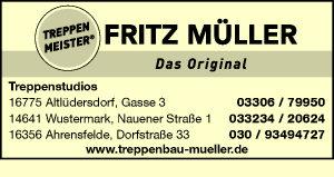 Logo von Fritz Müller Massivholztreppen GmbH & Co. KG