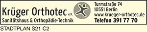 Logo von Krüger Orthotec e. K.