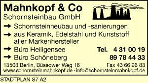 Logo von Mahnkopf & Co. Schornsteinbau GmbH