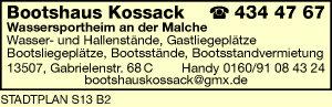 Logo von Bootshaus Kossack