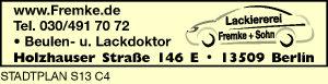 Logo von Fremke + Sohn