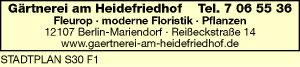 Logo von Gärtnerei am Heidefriedhof