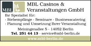 Logo von MBL Veranstaltungen GmbH