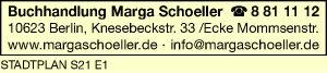 Logo von Buchhandlung Marga Schoeller